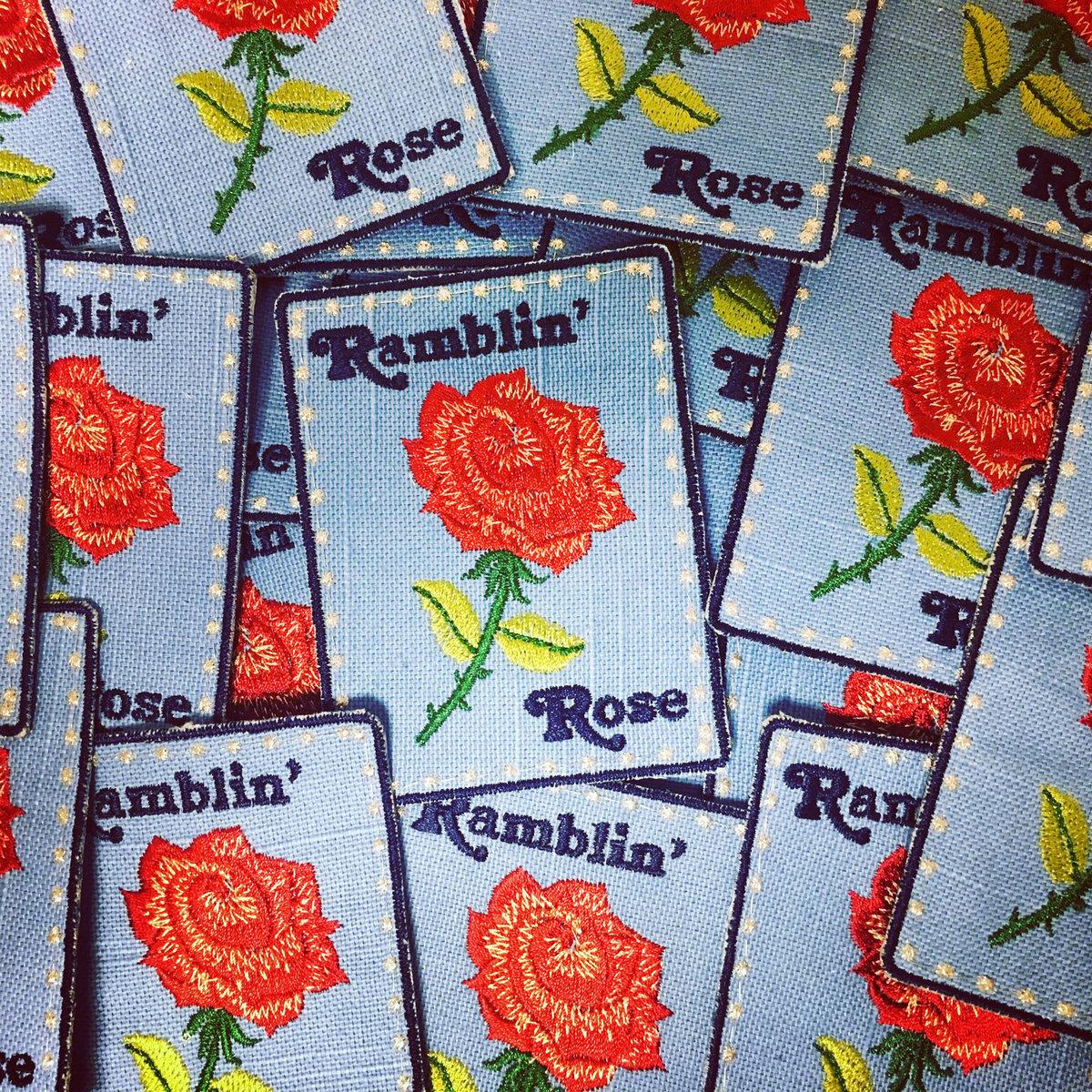 Ramblin' Rose Handmade Patch! 3x4