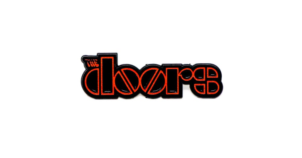 Image of The Doors Logo Red Enamel Pin
