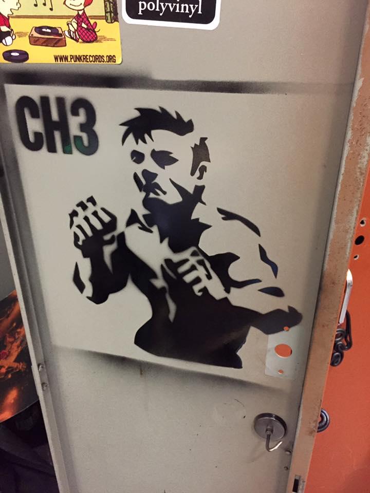"CH3 (CHANNEL 3) - ""Put 'Em Up"" LP w/Stencil"