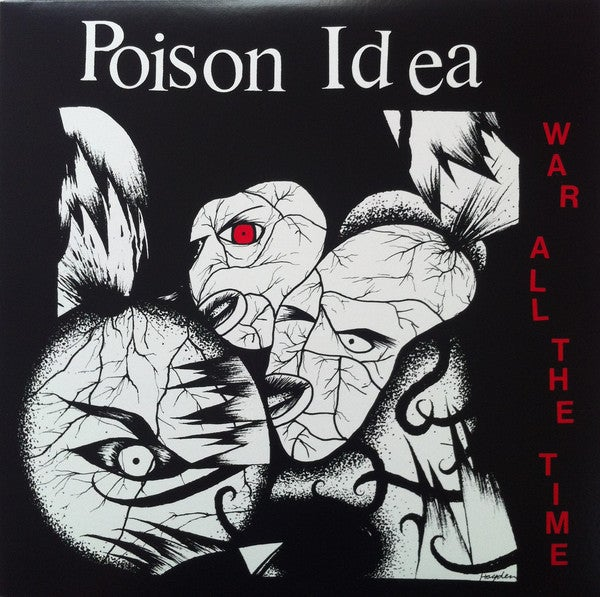 """POISON IDEA - """"War All The Time"""" LP (Translucent Red)"""