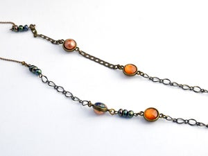 Image of long stranded necklace