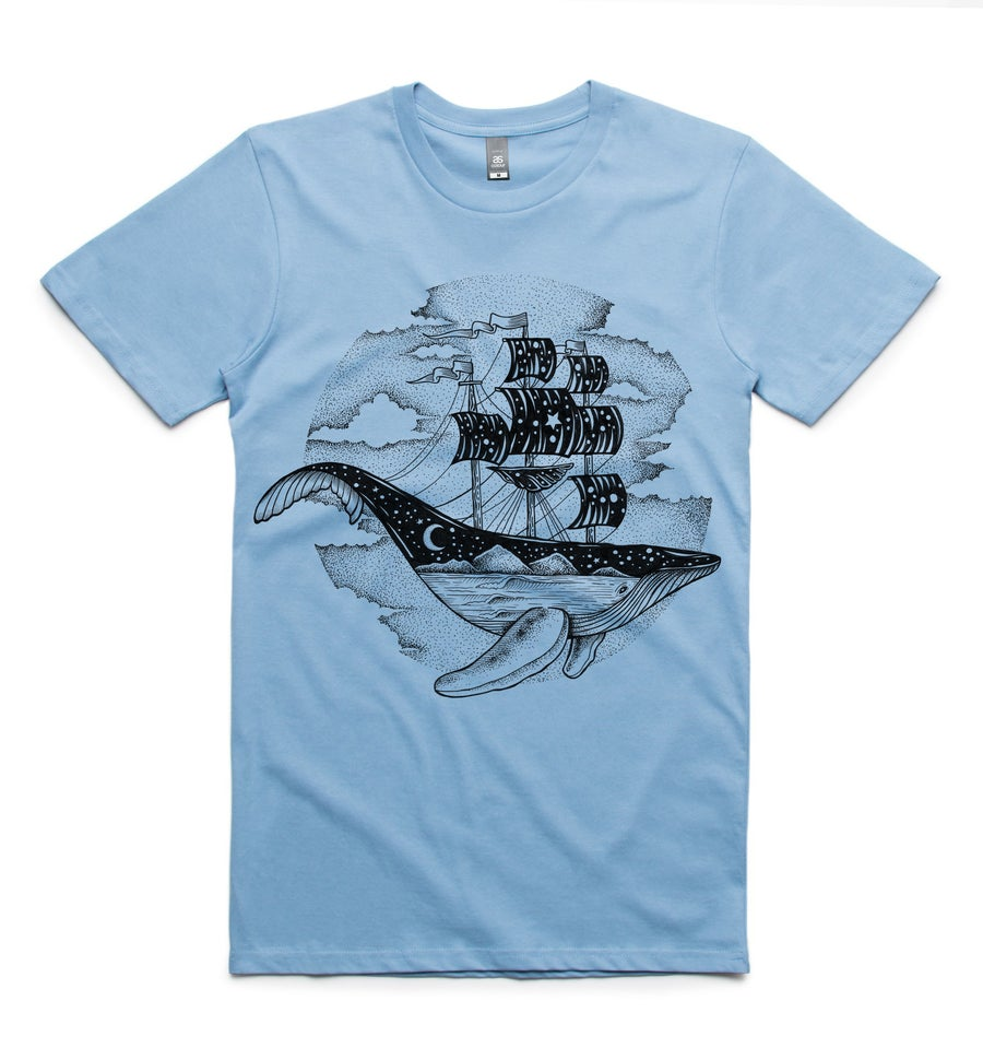 Image of Whale Ship Mens Tee