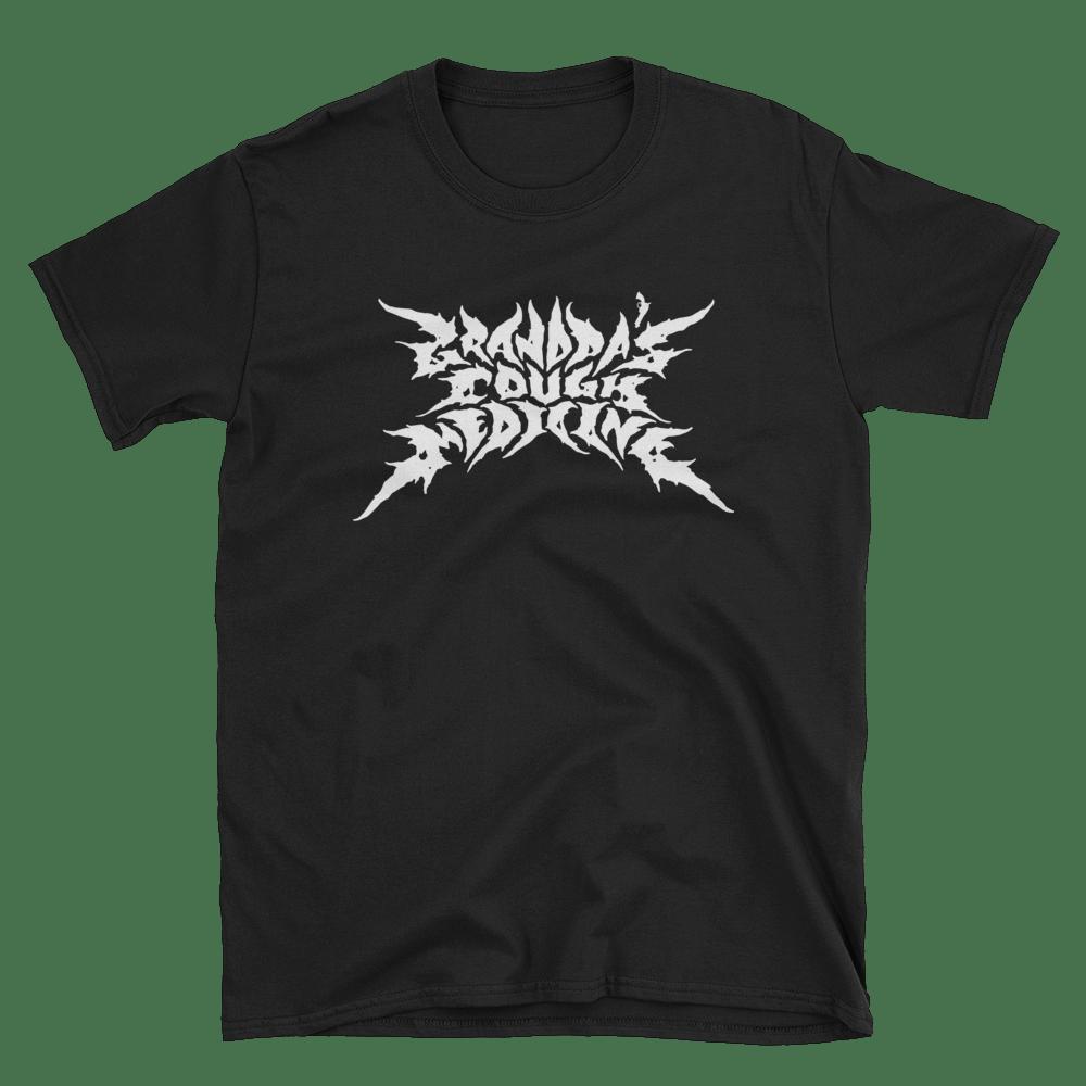 Image of Black Shirt/White Metal Logo