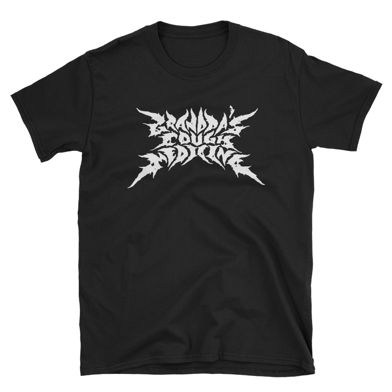 Image of Black Shirt/White Metal Logo