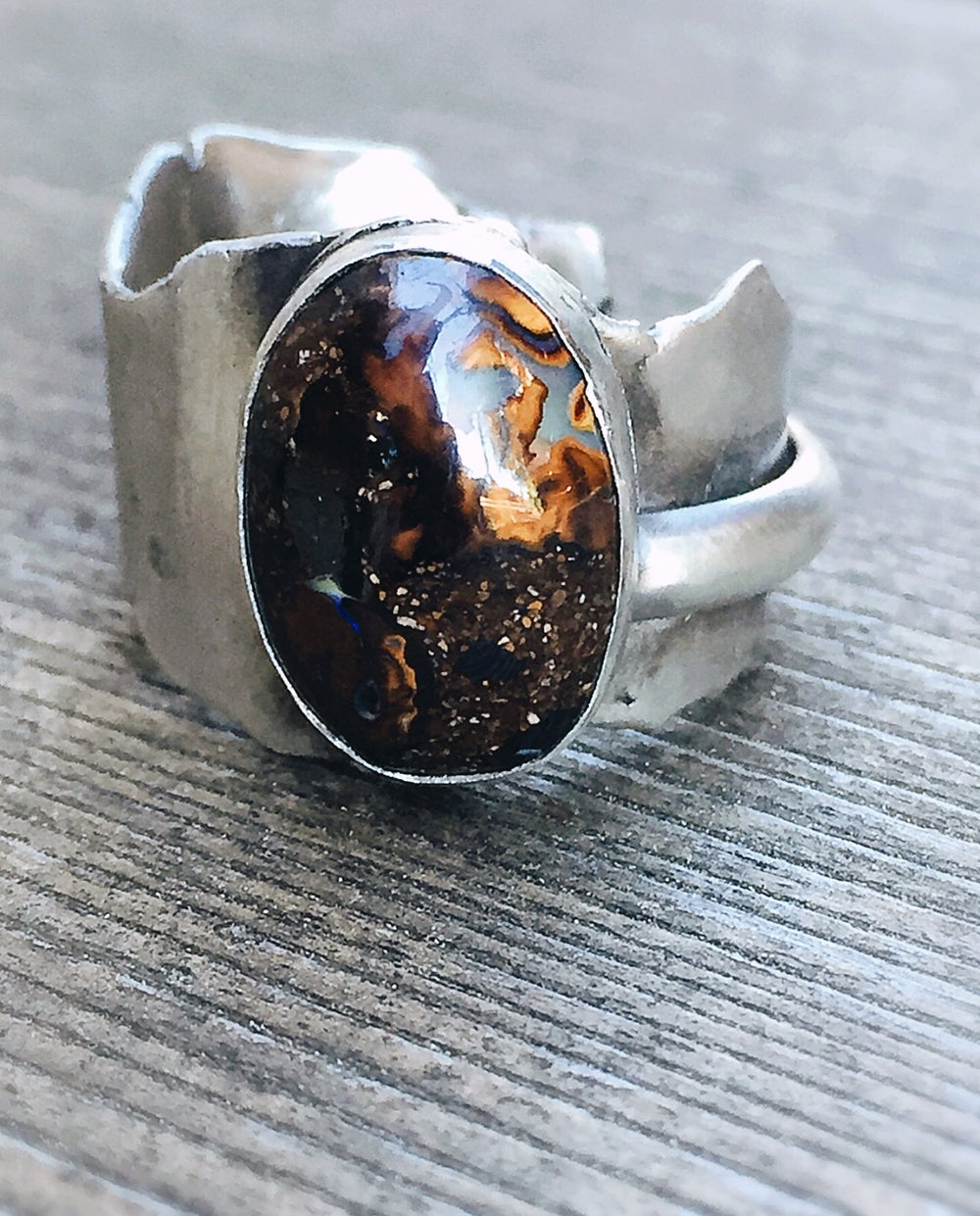 Image of Boulder opal ring