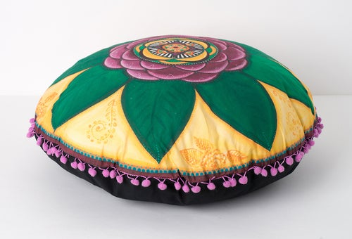 "Image of ""Spiritual guidance"" - Damask Rose Meditation Cushion"