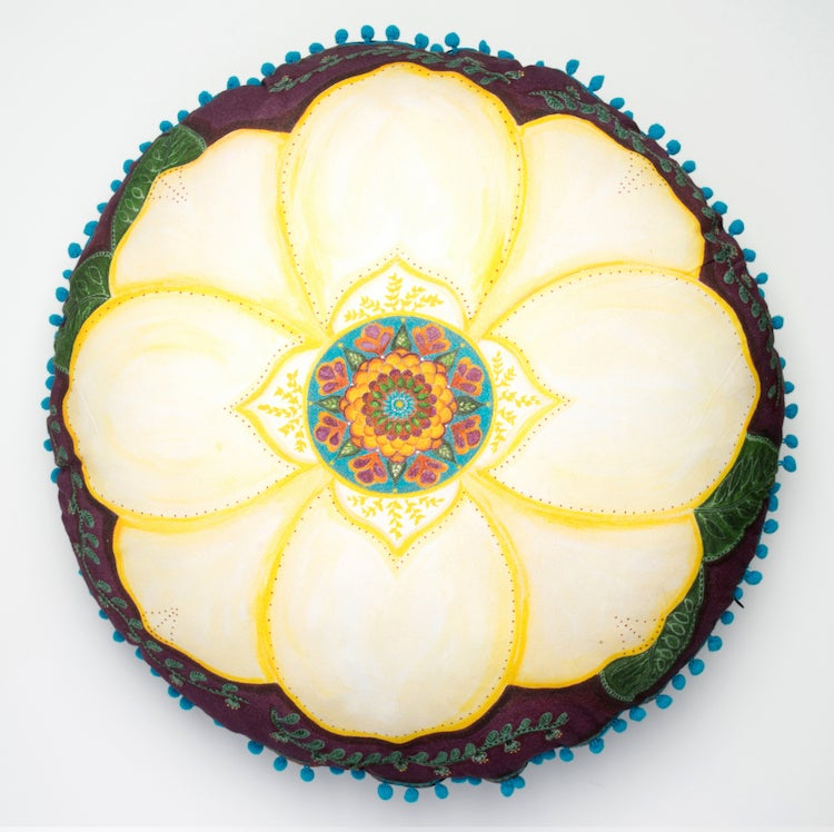 "Image of ""Support and honour"" - Magnolia Meditation Cushion"