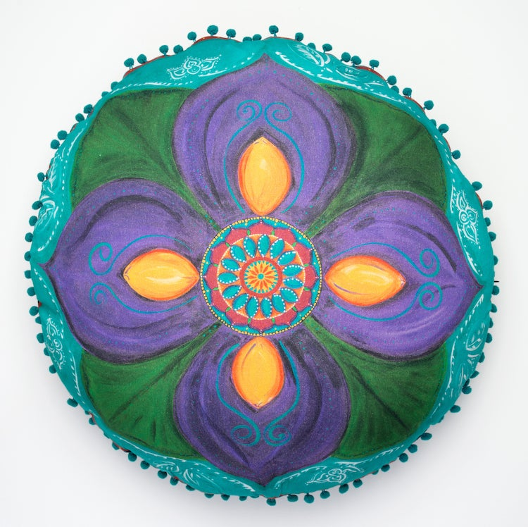 "Image of ""Spiritual awakening"" - Purple Lotus Meditation cushion"