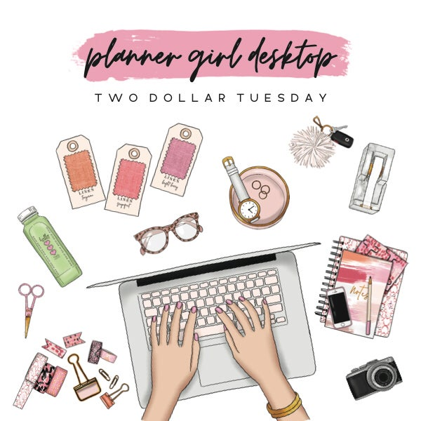 Image of Full Set Planner Girl Desktop Collection