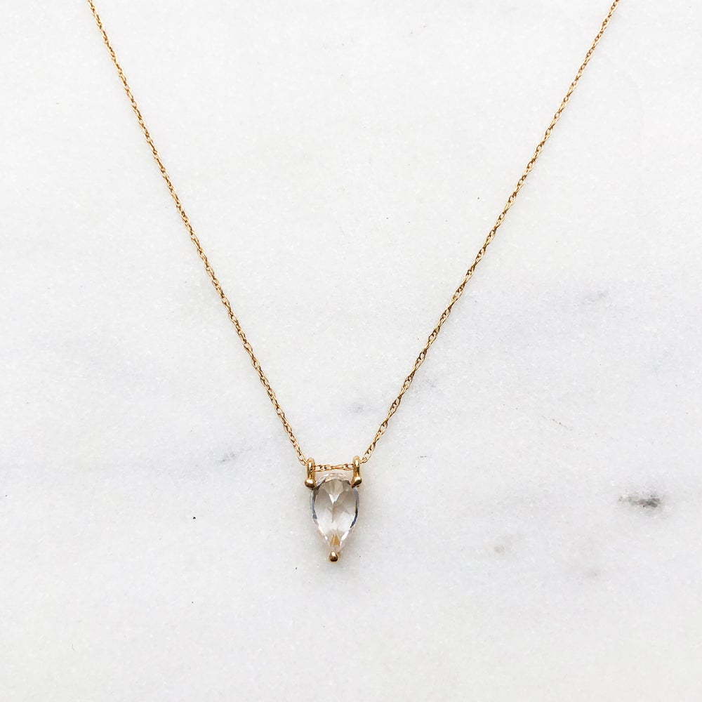 Image of Mindy Sapphire Drop Necklace