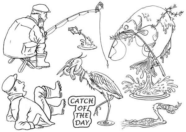 Image of Catch of the Day - Stamp Set