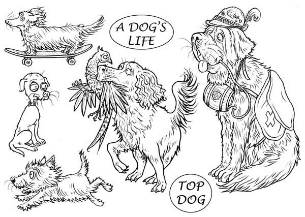 Image of A Dog's Life - Stamp Set