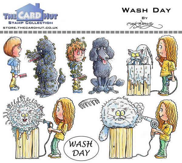 Image of Garden Grooming 2: Wash Day - Stamp Set