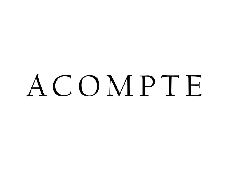 Image of ACOMPTE POUR LA RÉSERVATION D'UNE SÉANCE