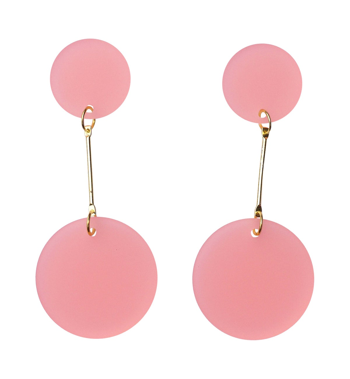 Image of Marble Acrylic Perspex Marble Disc Earrings
