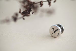 Image of *NEW* Personalised 'Barleycorn' silver Tie Tack pin