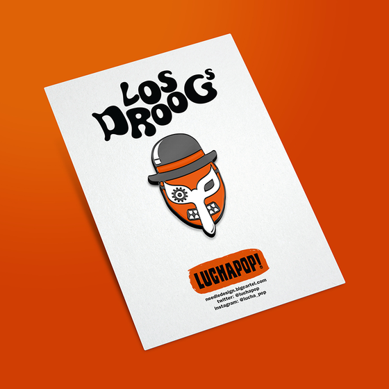 Image of LuchaPop! Los Droogs (Clockwork Orange) Enamel Pin Badge