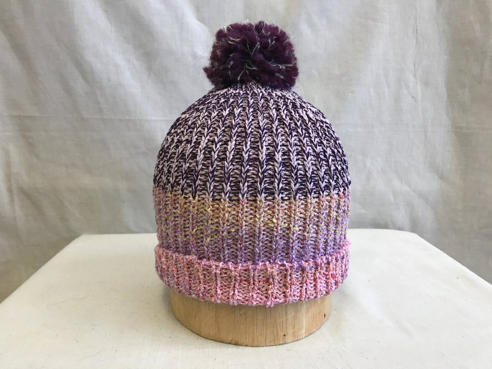 Image of Marled Knit Cap-purple