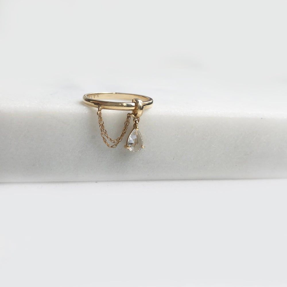 Image of Sapphire Chain Drop Ring