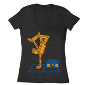 Image of Breakdance Robot - Women's Fitted VNeck