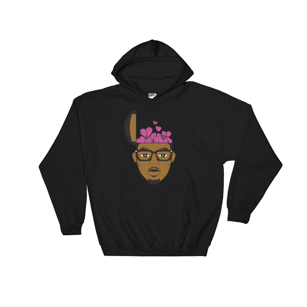 Image of HeartHeaded Retro Hoodie (Black)