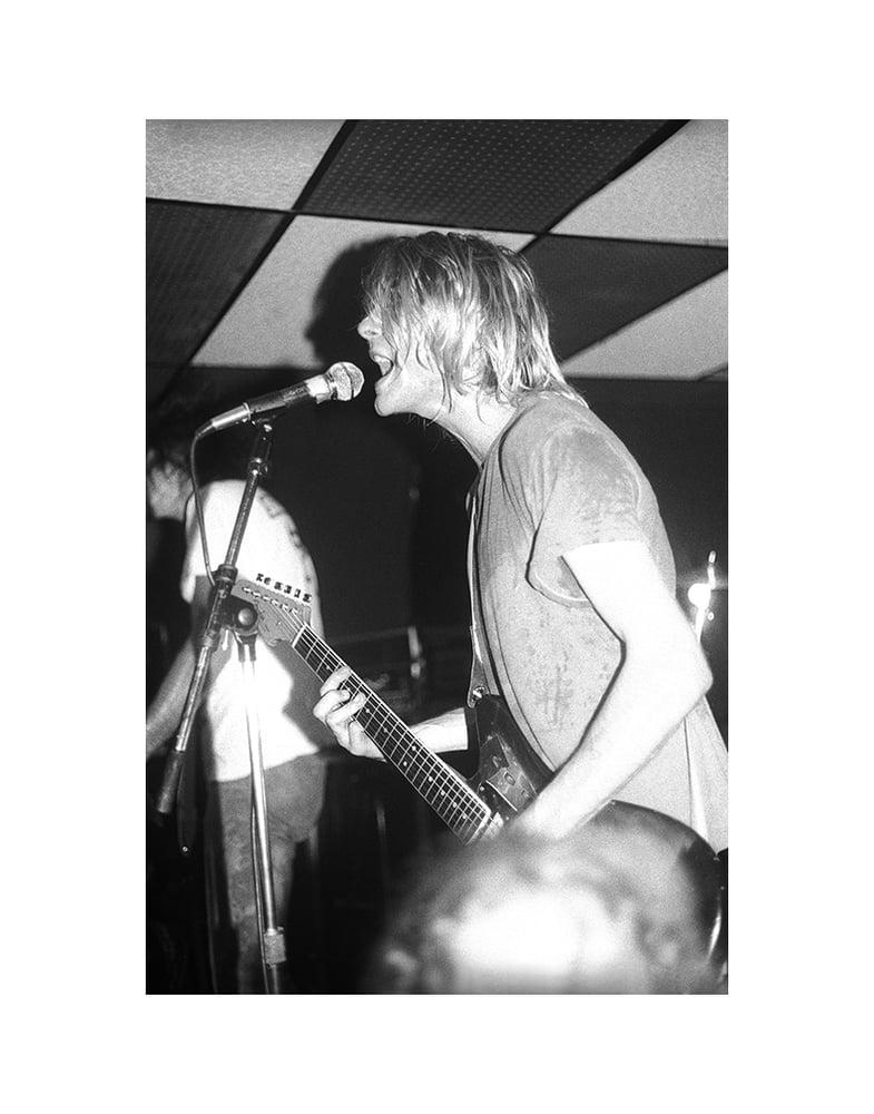 Image of 16X20 Kurt Cobain print 2 / Nirvana October 9, 1991