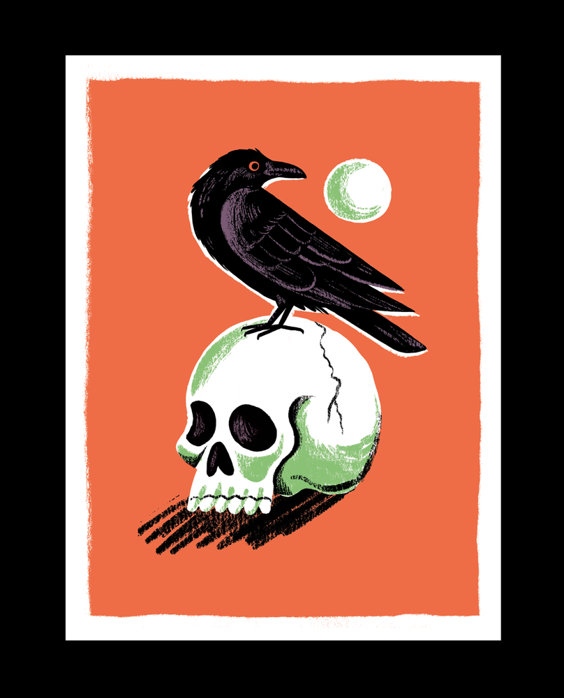 Image of Halloween Still Life - Skull