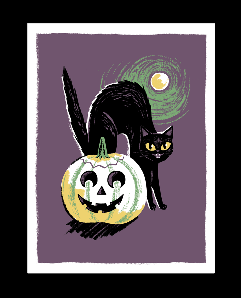 Image of Halloween Still Life - Black Cat
