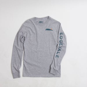 Image of Long Sleeve Logo Tee - Heather Grey