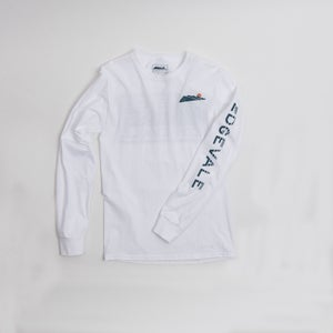 Image of Long Sleeve Logo Tee - White