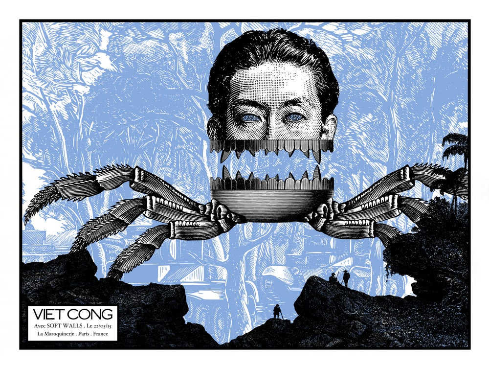 Image of VIET CONG (PREOCCUPATIONS) gig poster - La Maroquinerie Paris May 2015