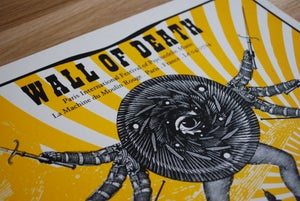 Image of WALL OF DEATH gig poster - Paris Psych Fest July 2014