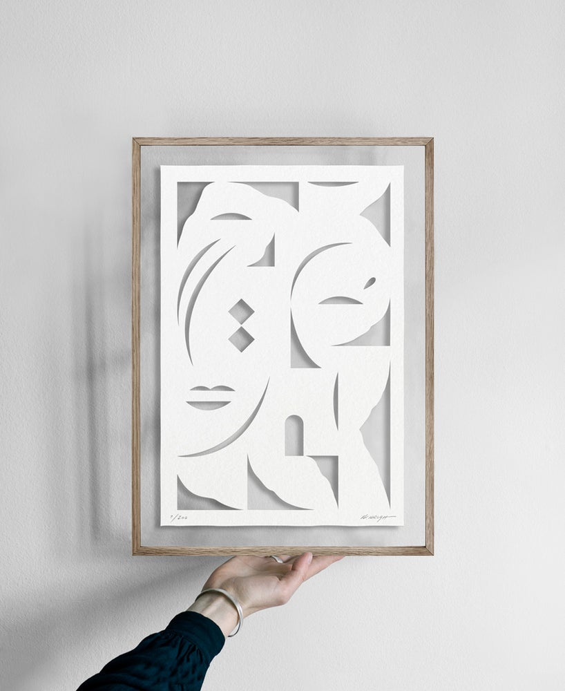 Image of Face White · Papercut (Sold out)