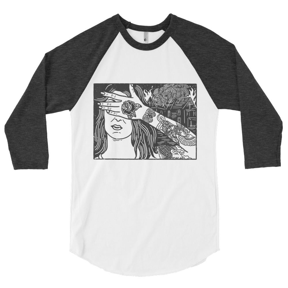 Image of IDC. ¾ Sleeve Raglan Tee
