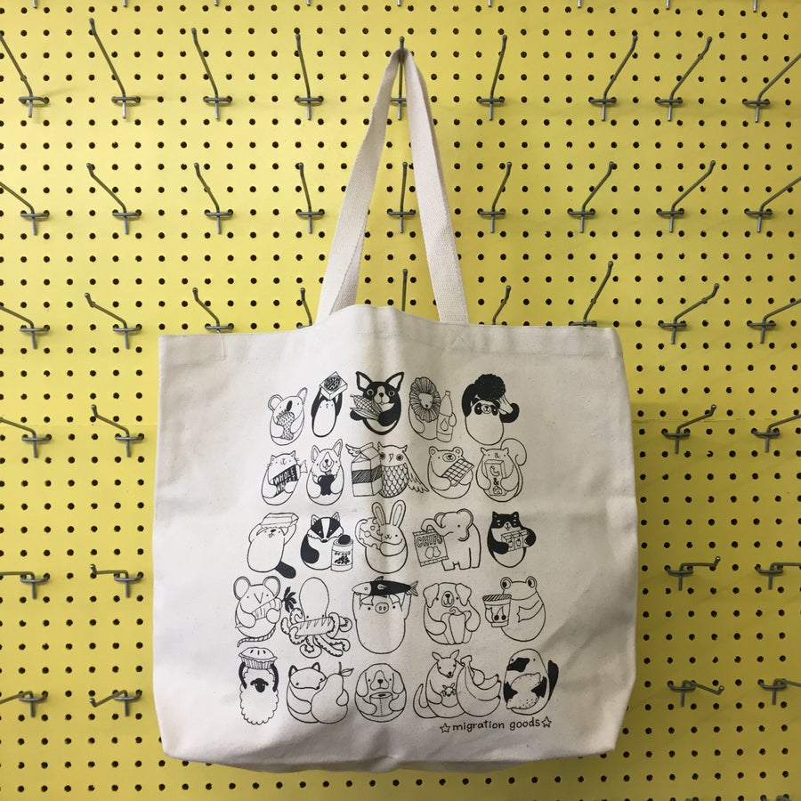 Image of XL grocery staples tote bag
