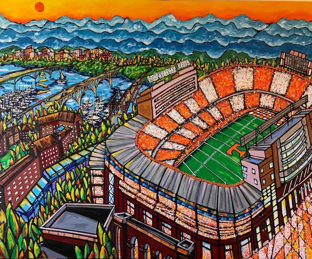 Image of David Lynch Neyland Stadium Painting