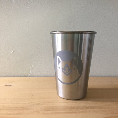Image of large stainless steel cups