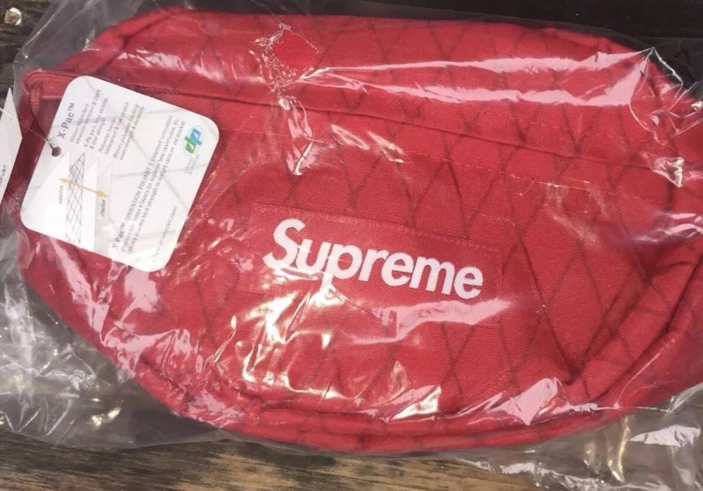 77c96e48cca3 Image of Supreme Waist Bag FW18 Red Fanny Pack