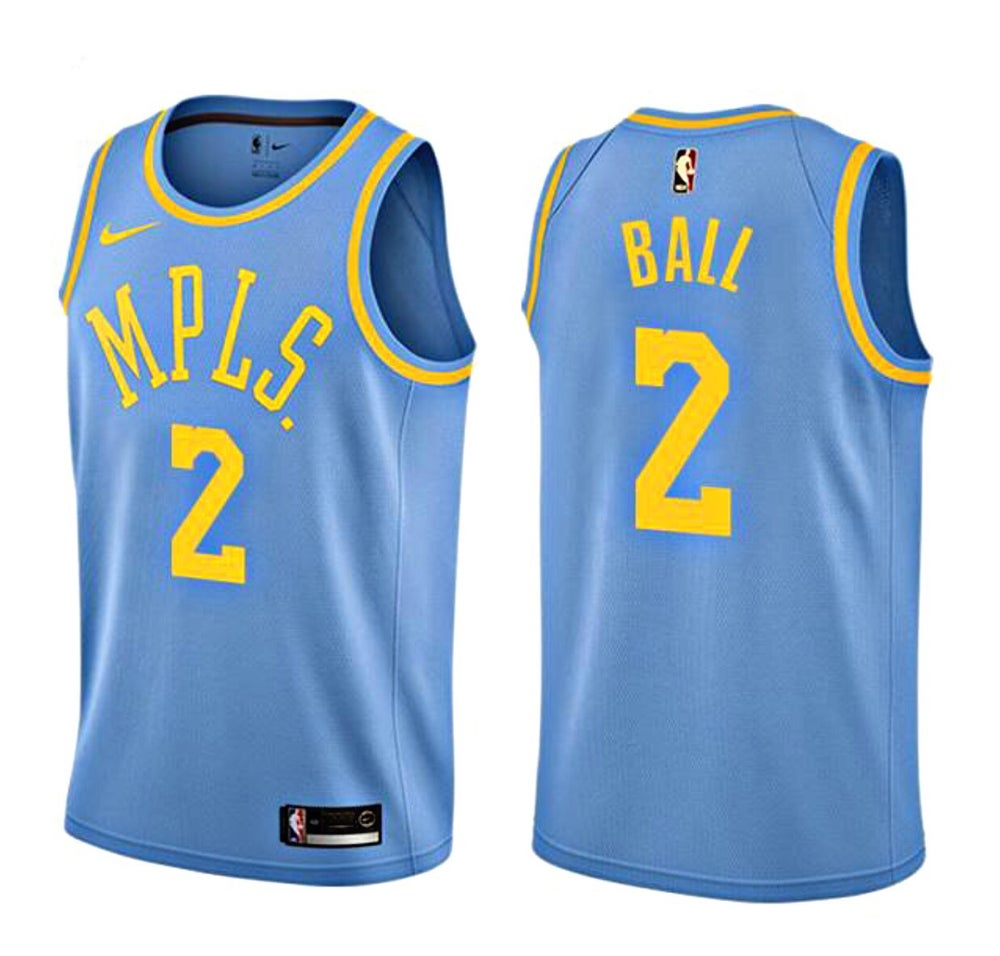 buy online a62df c4c73 Retro Lonzo Ball Lakers #2 Jersey