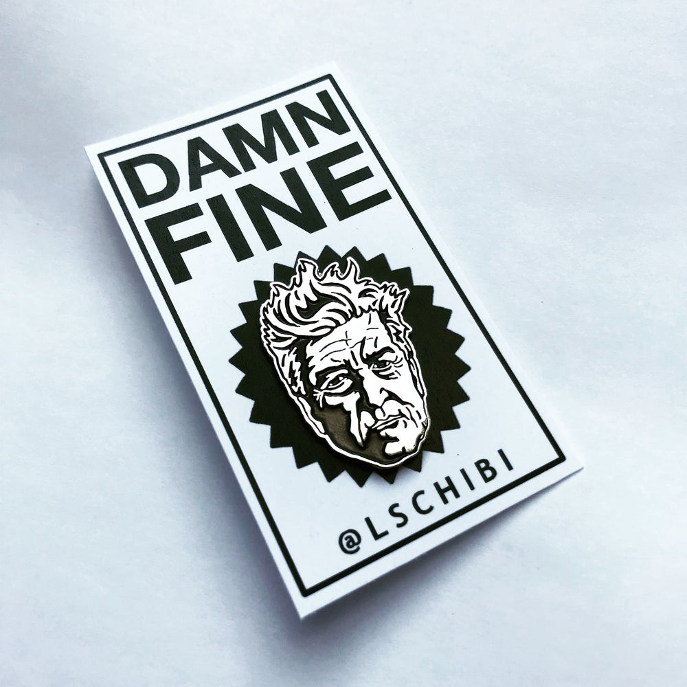 Image of DAMN FINE Shiny Nickel Pin