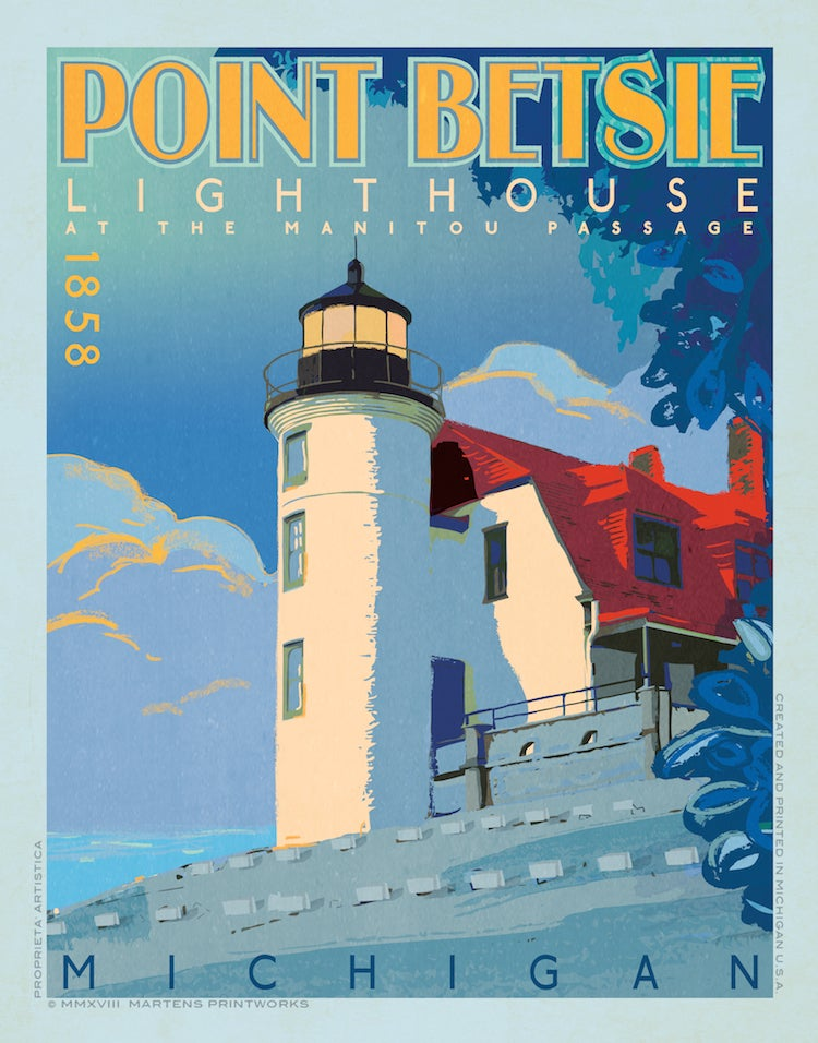 Image of Point Betsie Lighthouse 11x14 Print No. [081]