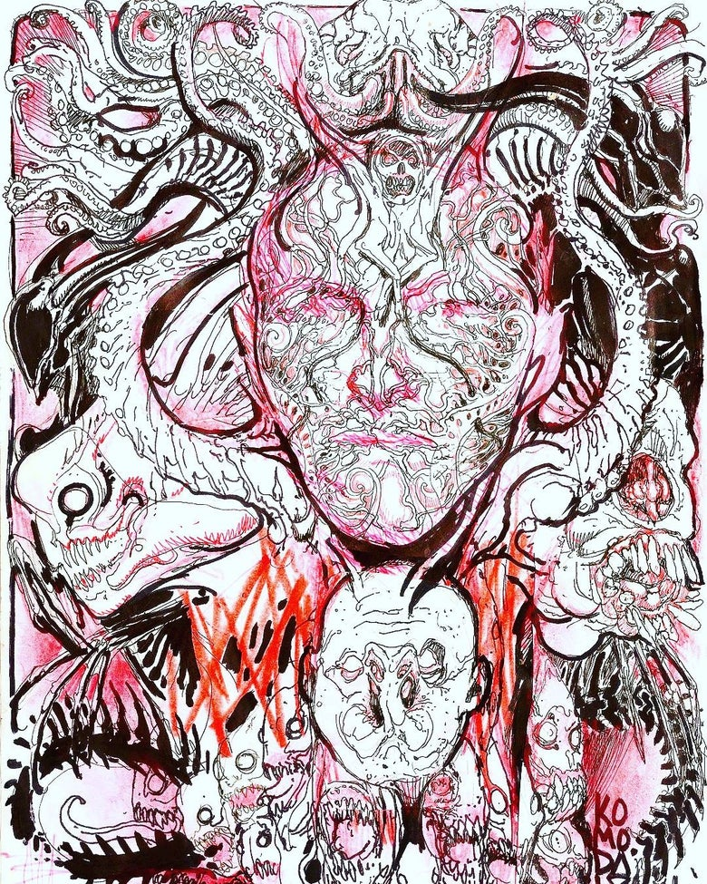 Image of Howard Phillips Lovecraft collaboration art Paul komoda Stanislav