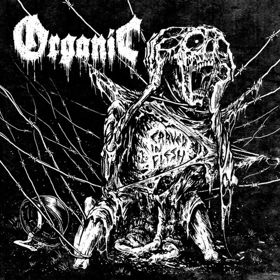 Image of Organic • Carved in Flesh (Limited Transparent Blood Red Vinyl)