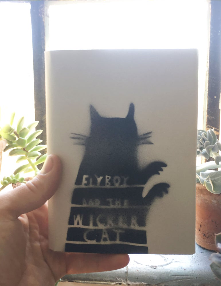 Image of FLYBOY AND THE WICKER CAT (handmade book)