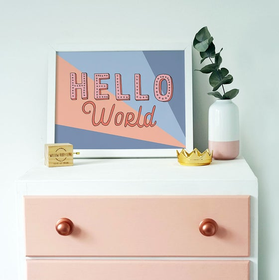 Image of Hello World Print