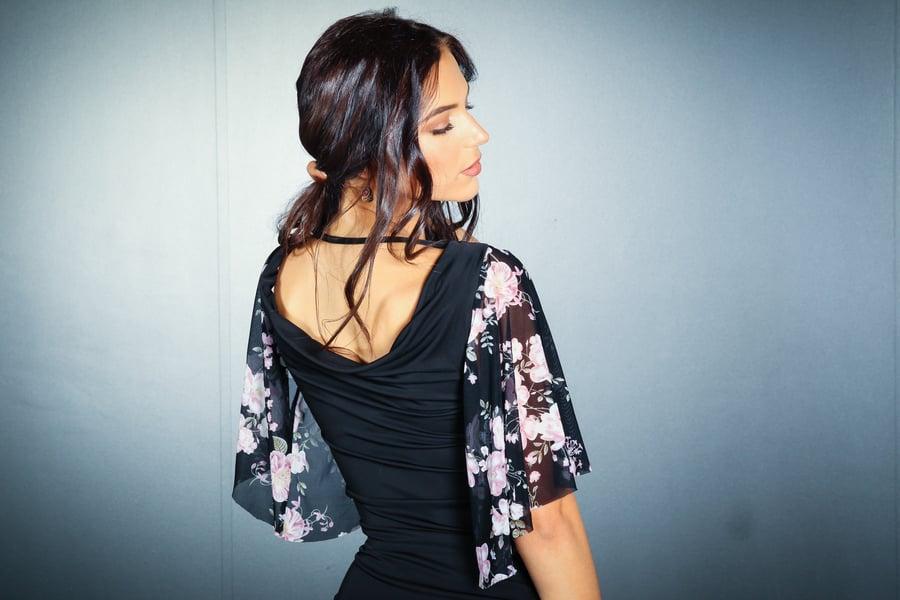 Image of Elegance Top - Cherry Blossom E7138A Dancewear latin ballroom
