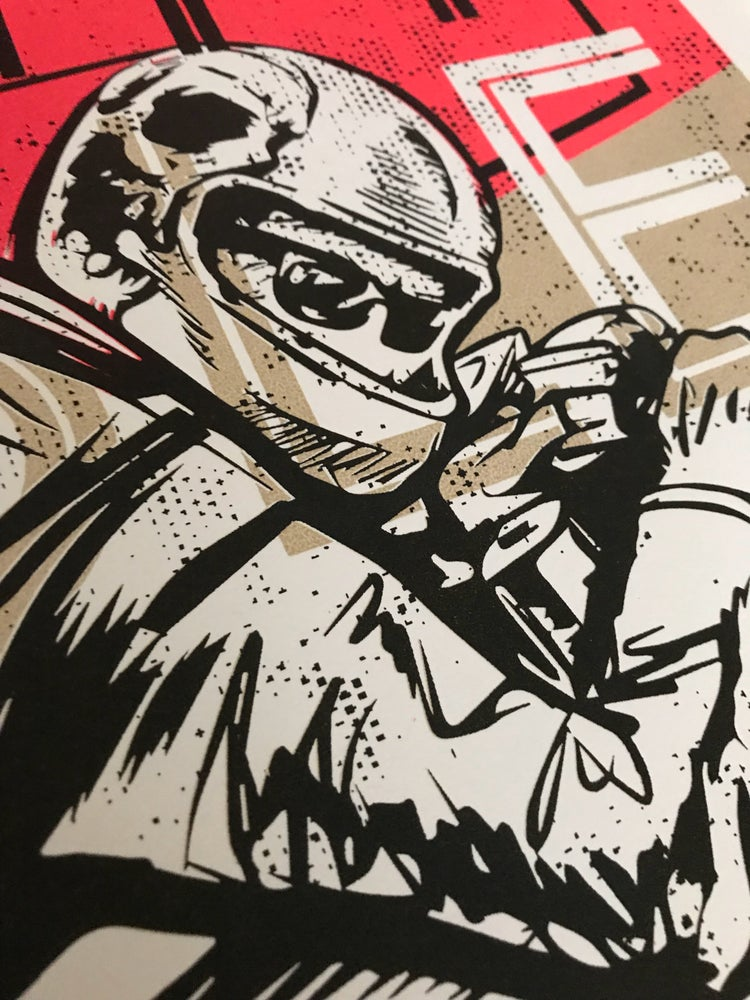 """Image of 2018 Large Bull City Rumble Poster 18"""" x 24"""" Hand- Screened & Signed"""