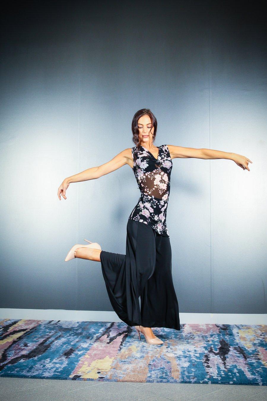 Image of Ava Top - Cherry Blossom E1312 Dancewear latin ballroom