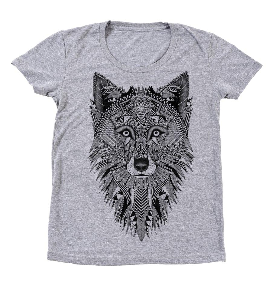 Image of Ladies Grey Wolf Tee