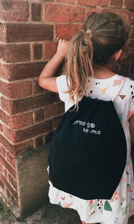 Image of Free To Be Me Drawstring Bag